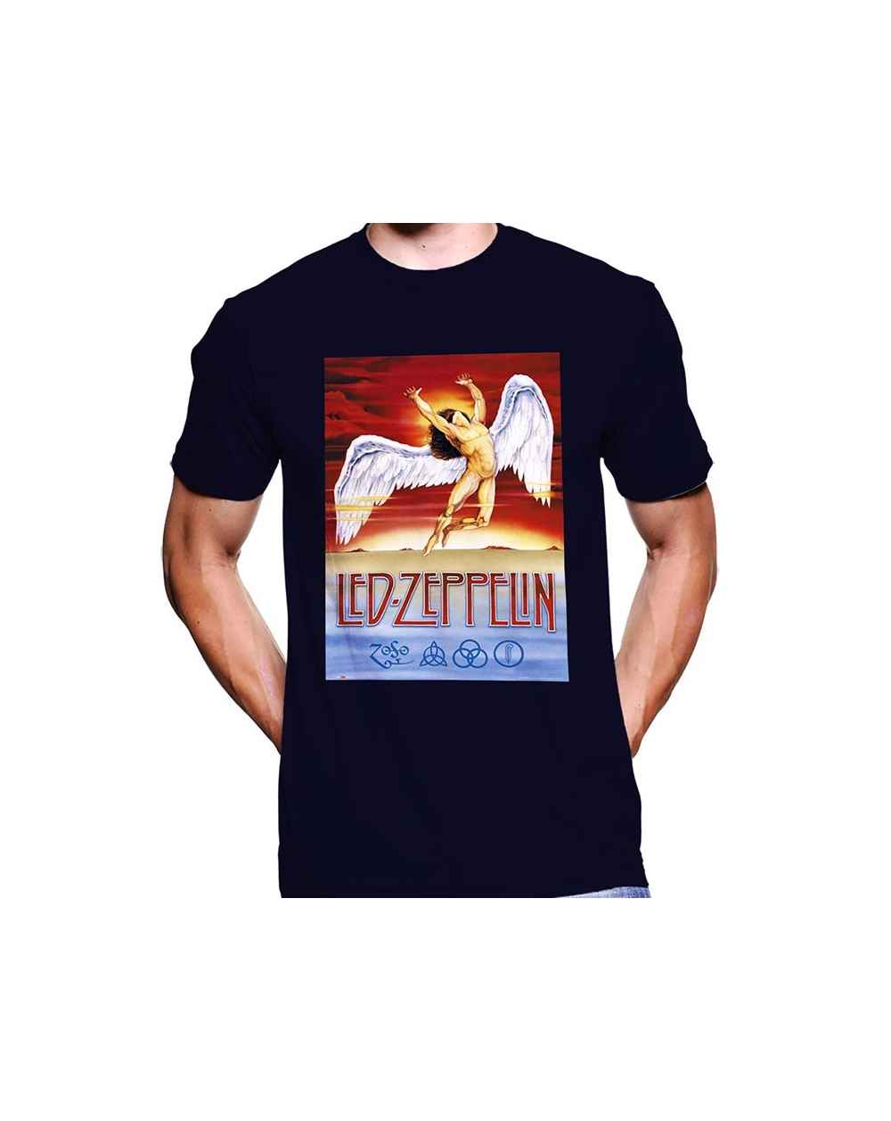 Camiseta Estampada Hombre Led Zeppelin Angel
