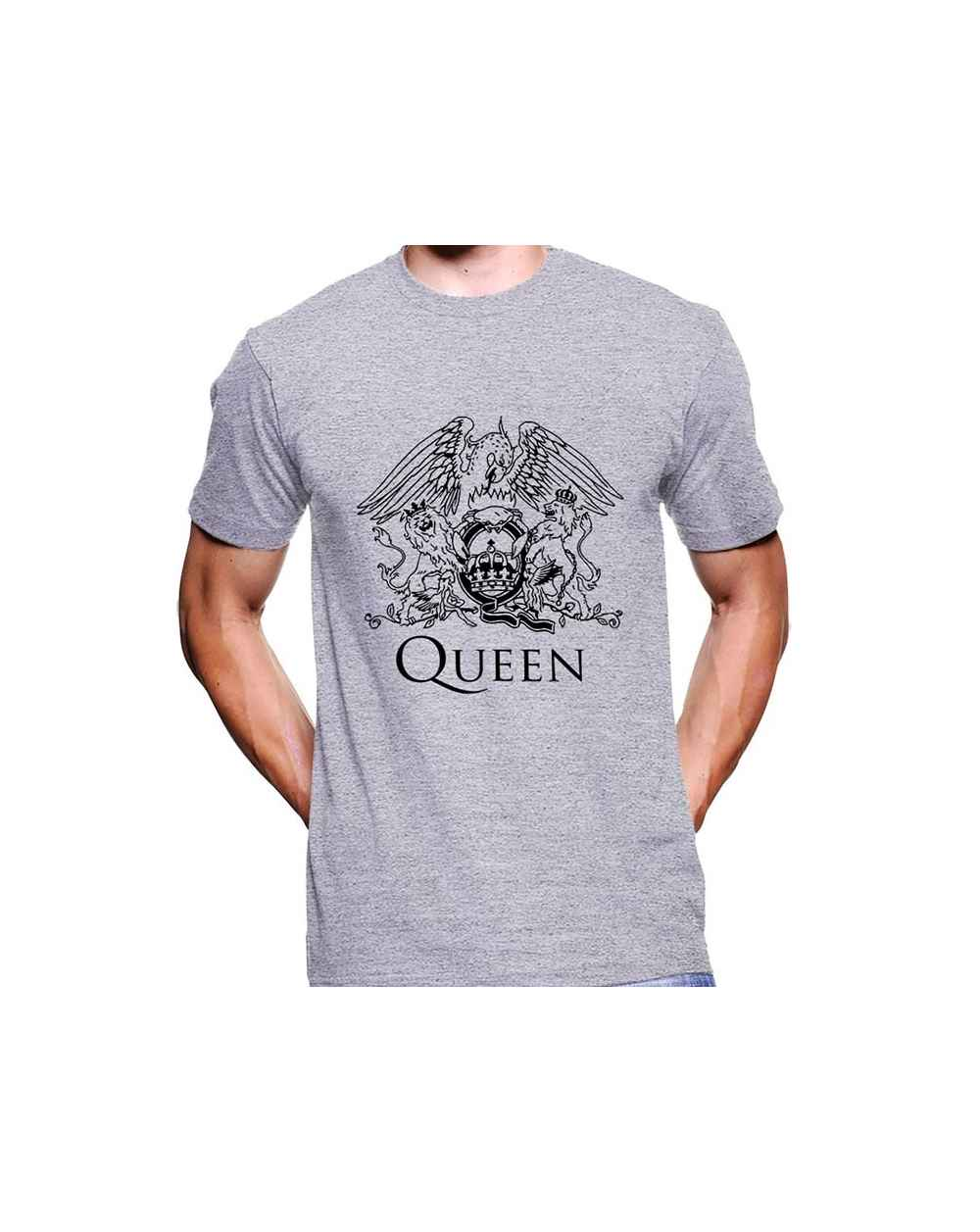Camiseta Estampada Hombre Queen Black