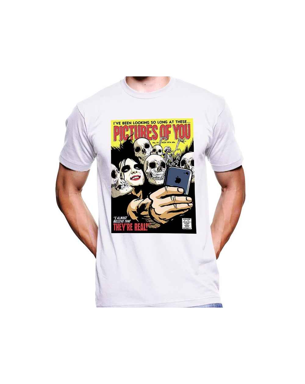 Camiseta Estampada Hombre The Cure Pictures Of You