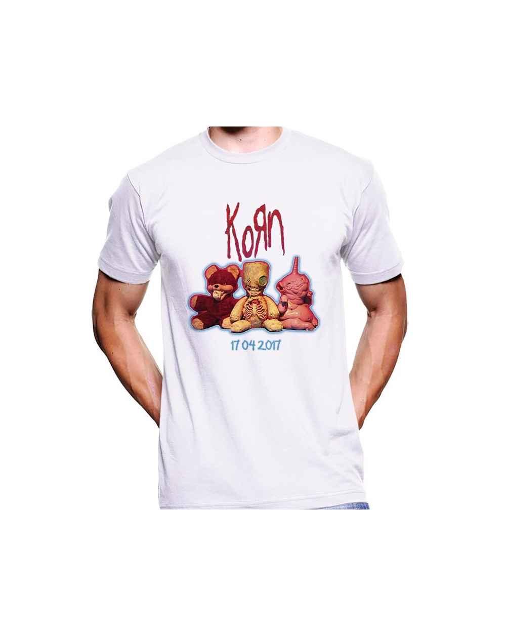 Camiseta Estampada Hombre Korn Concierto Bogota 01