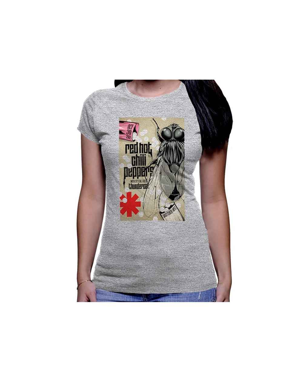 Camiseta Estampada Dama Red Hot Chilli Peppers 01