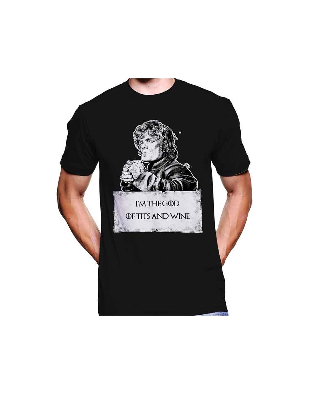 Camiseta Estampada Hombre Game Of Thrones God Of WIne And Tits