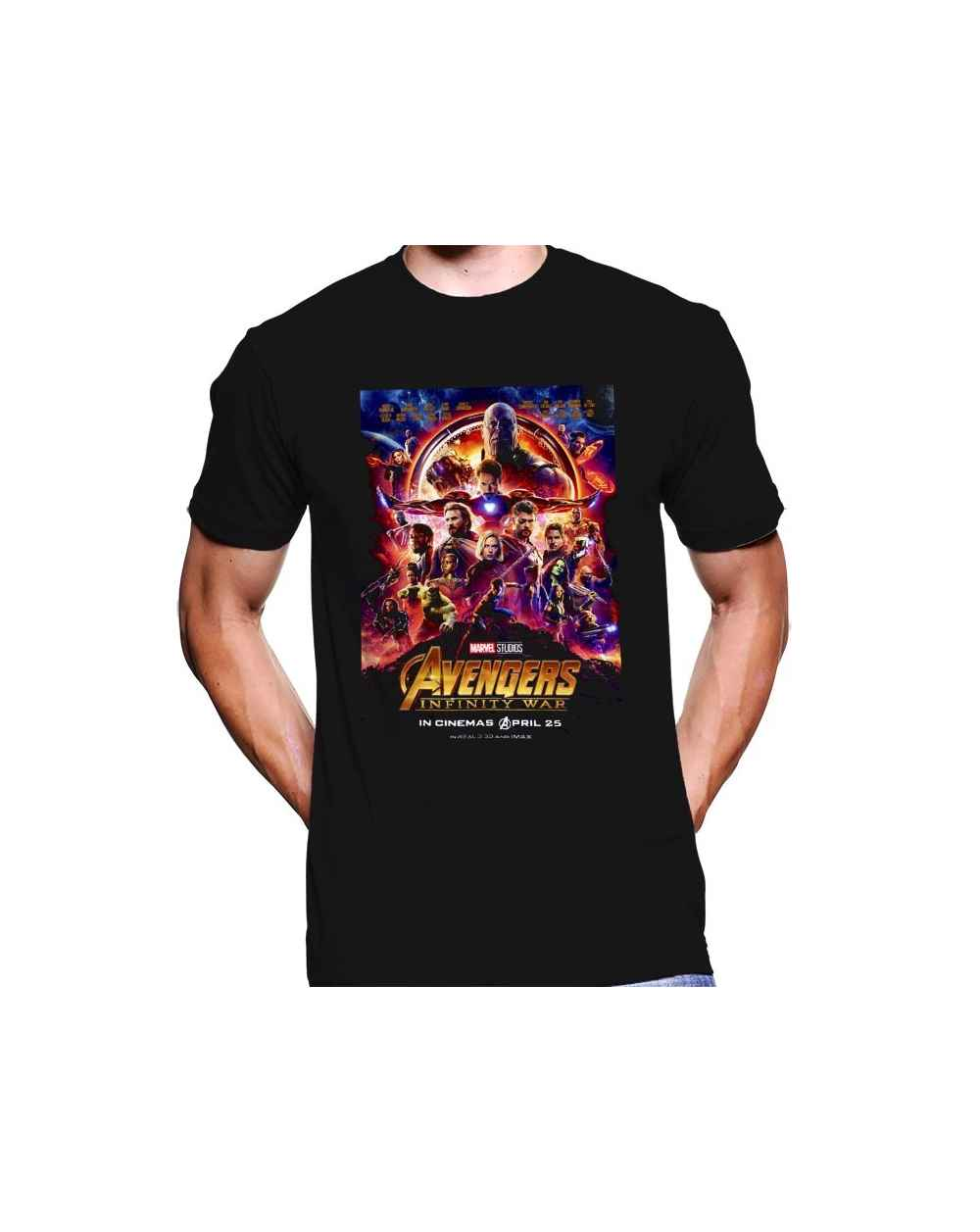 Camiseta Estampada Hombre Avengers 04
