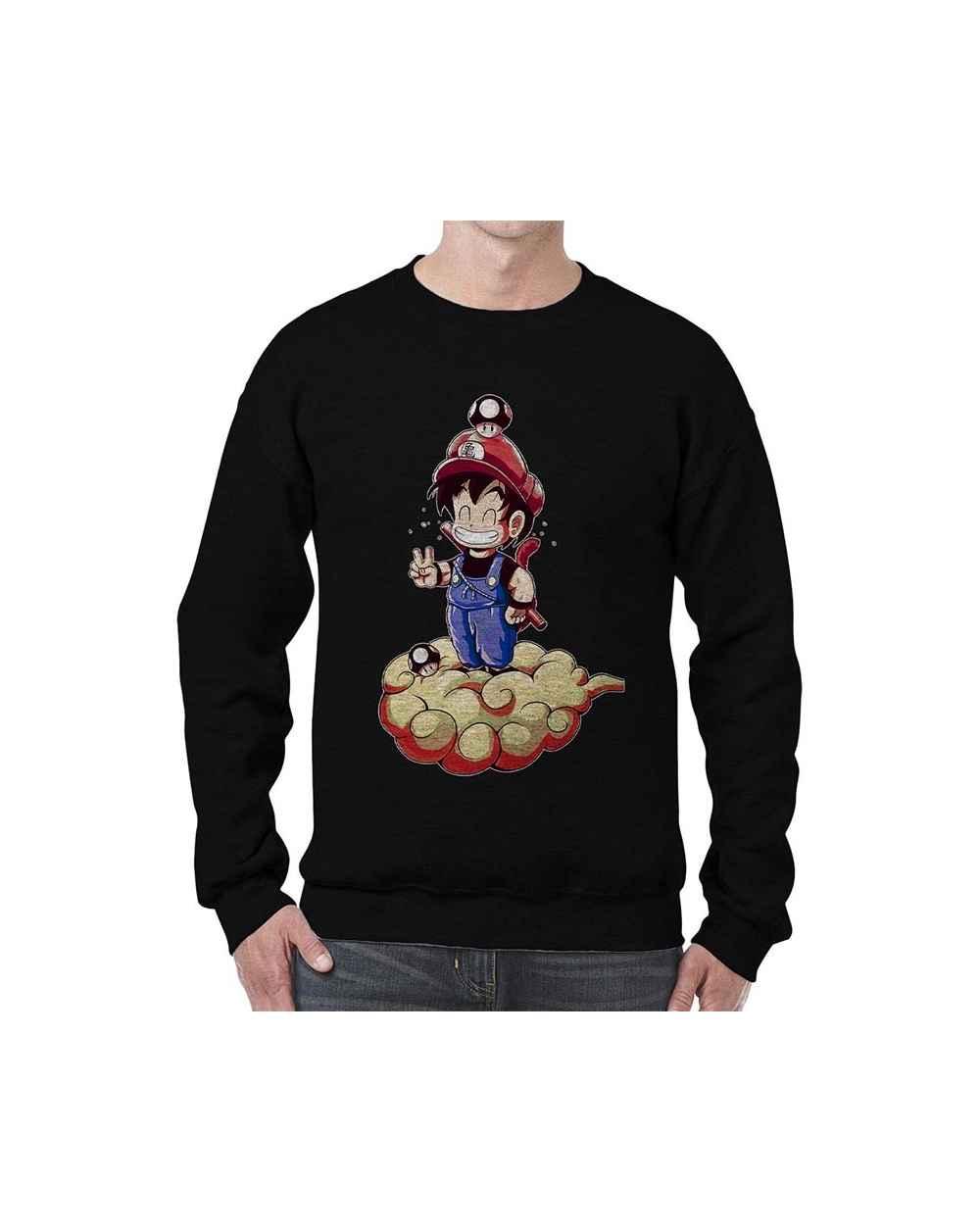 Camibuso Estampado Hombre Mario Goku