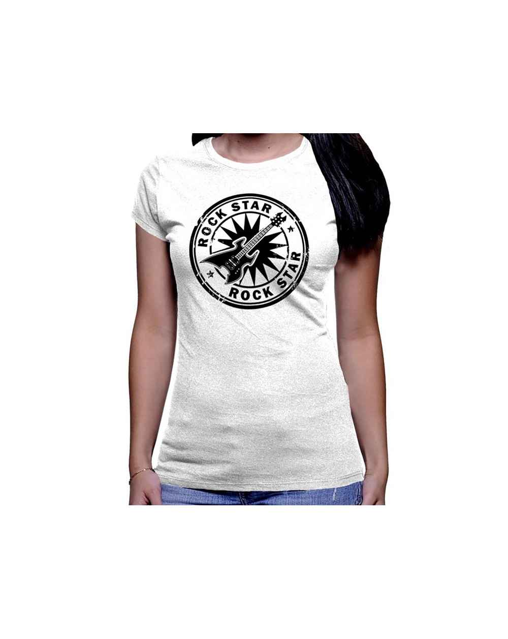 Camiseta Estampada Dama Rock Star