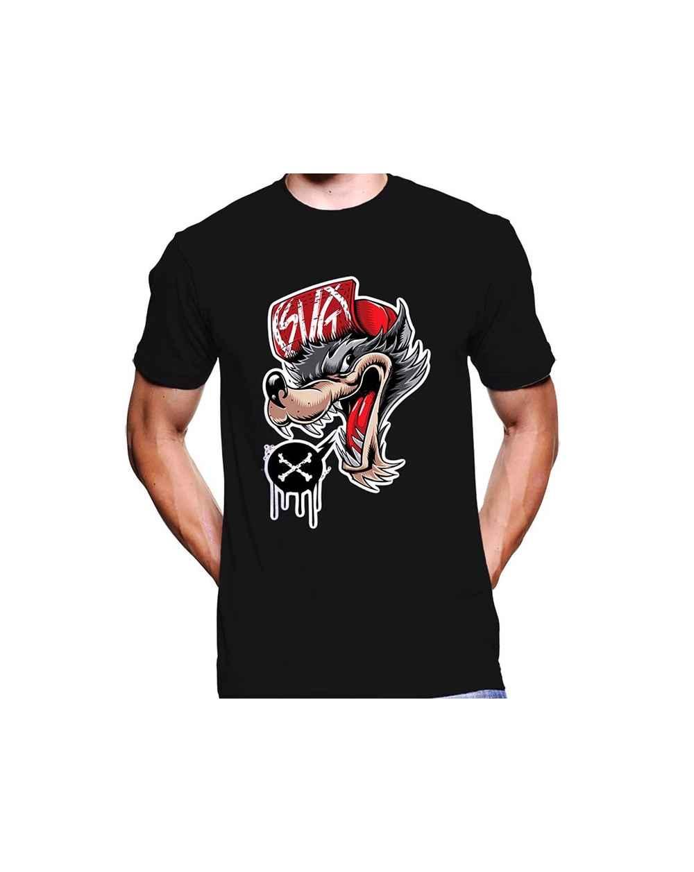 Camiseta Estampada Hombre Wolf SGV