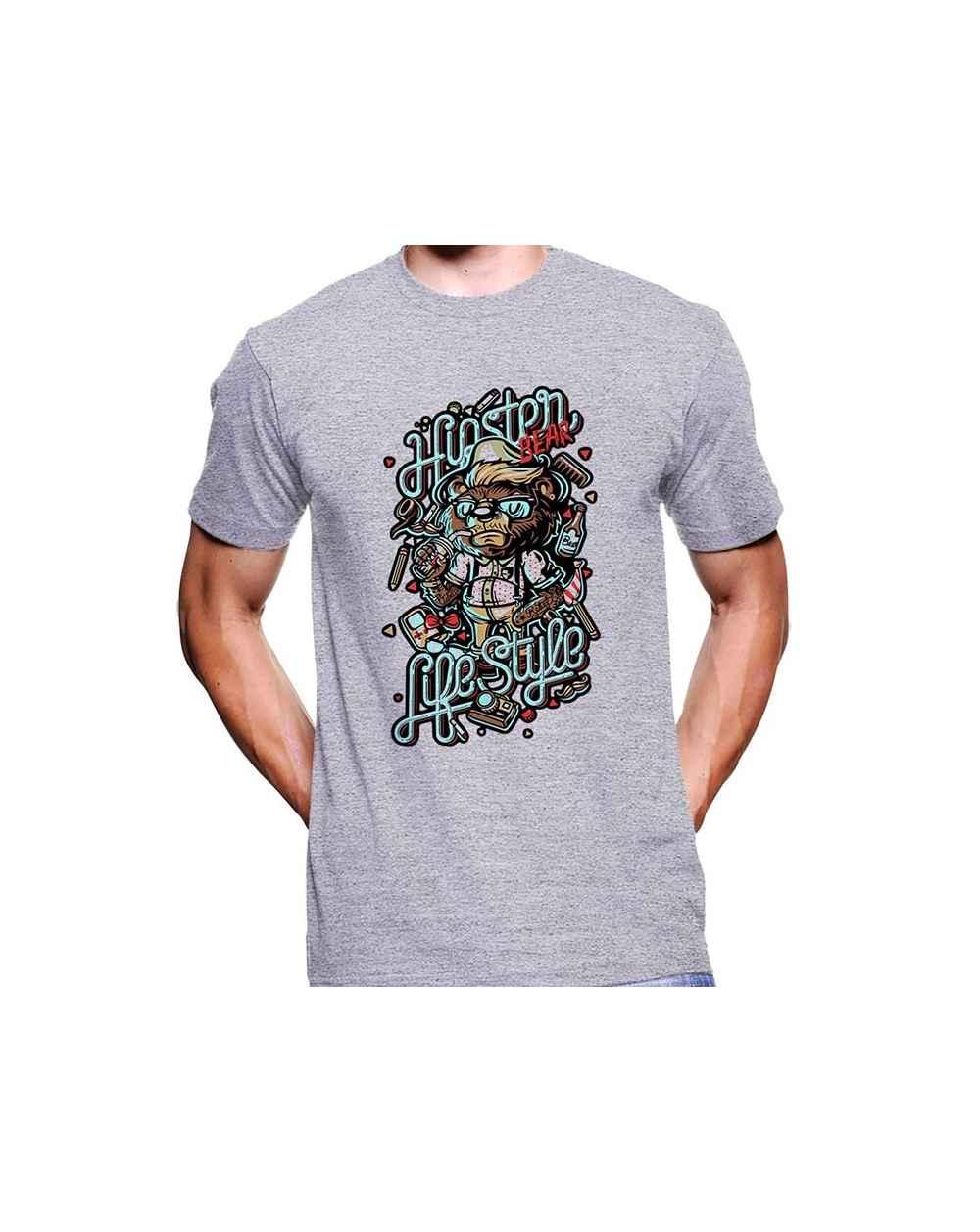 Camiseta Estampada Hombre Bear 01