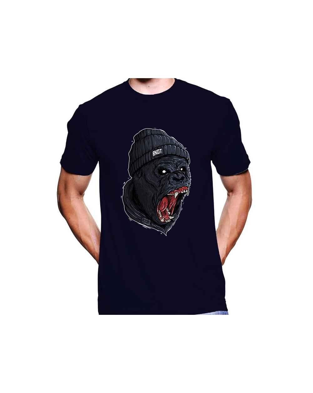 Camiseta Estampada Hombre Simio 05