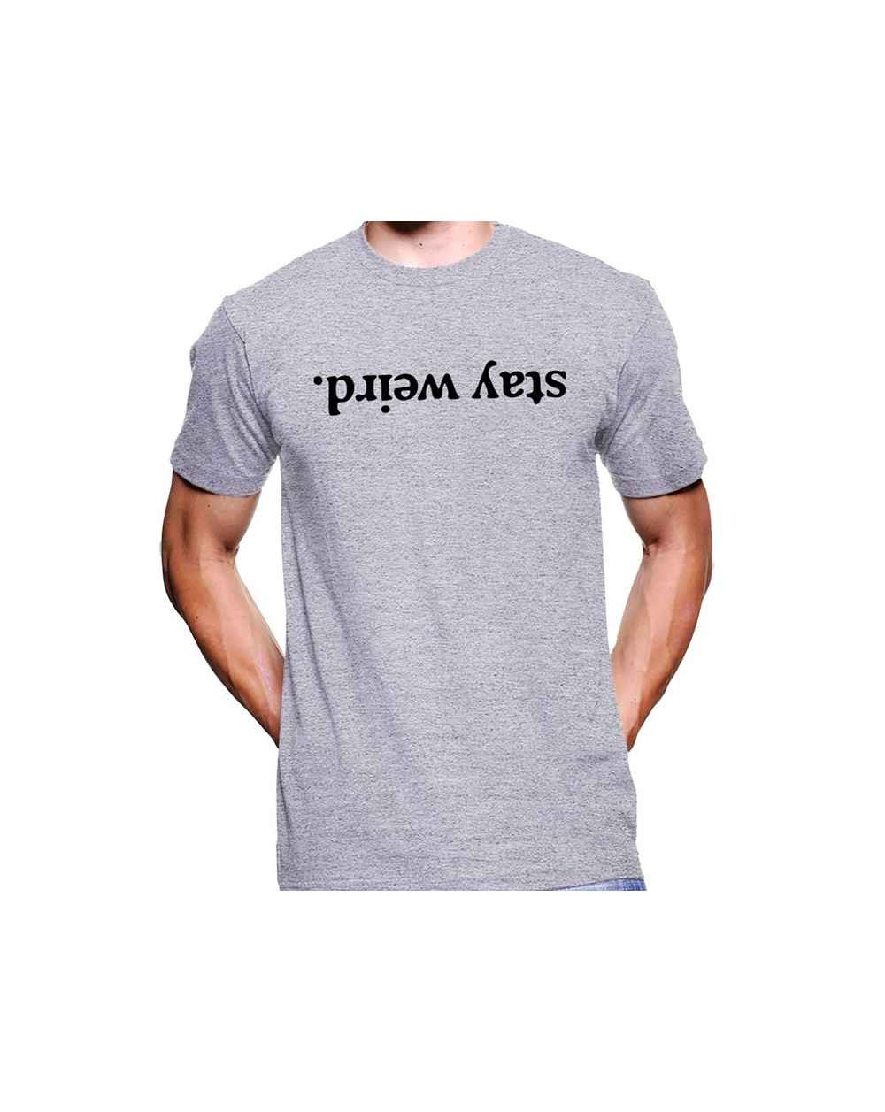 Camiseta Estampada Hombre Stay Weird