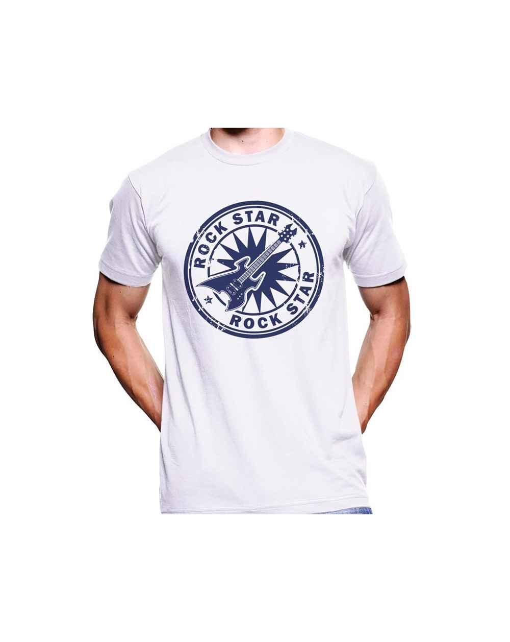 Camiseta Estampada Hombre Rock Star