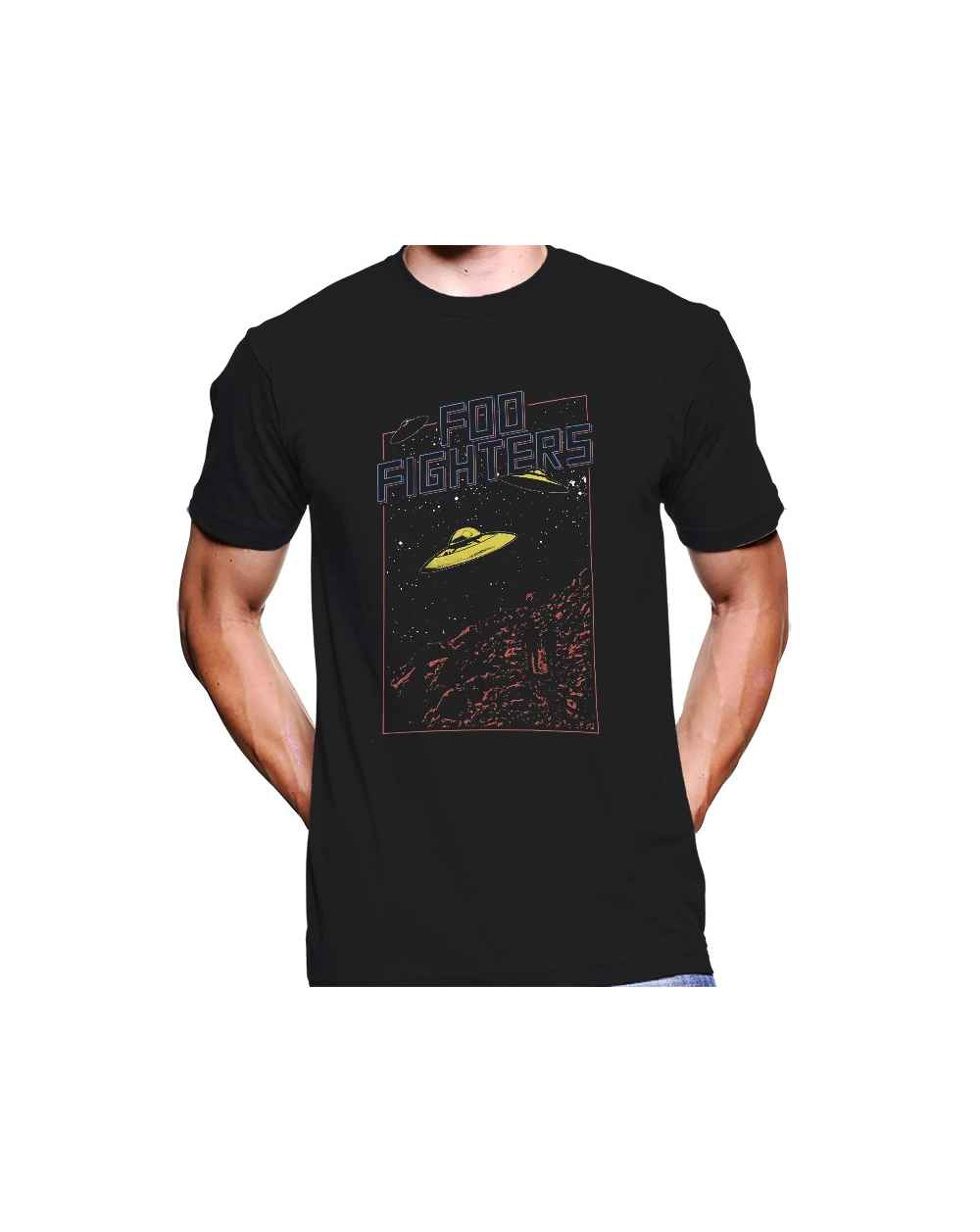 Camiseta Estampada Hombre Foo Fighters