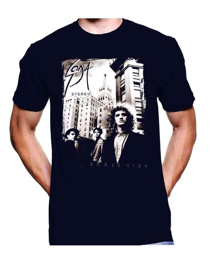 Camiseta Estampada Hombre Soda Stereo Doble Vida