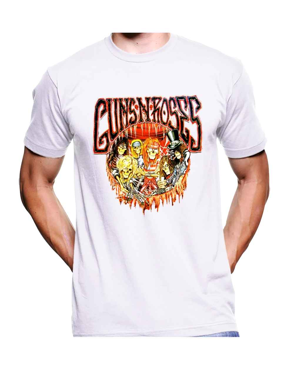 Camiseta Estampada Hombre Guns And Roses 09